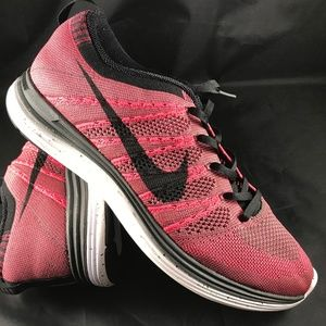 Mint Condition NIKE FLYKNIT Lunar 1 Pink/Red Grey